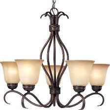 five light chandelier oil rubbed bronze