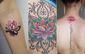 lotus flower tattoo ideas pink color meaning botanical