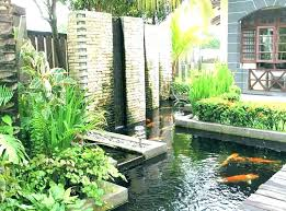 waterfall wall fountain garden cool outdoor fountains kit diy pool in