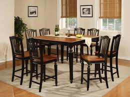 Small Picture Contemporary Black Counter Height Dining Room Sets Pack Intended Ideas