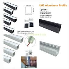 u05 36x24mm u shape internal width 20mm led aluminum channel system with cover end