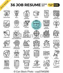 Resume Icons Gorgeous Job Resume Icons Job Resume Outline Icons Modern Style For Website