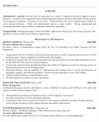 Sample Of Resume For Administrative Assistant Description Duties