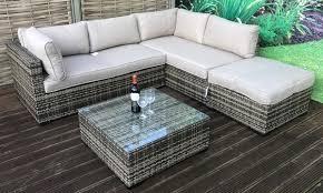 savannah rattan effect corner sofa set
