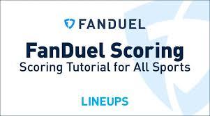 Fanduel Value Chart Fanduel Scoring Tutorial On Fanduel Dfs Scoring