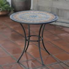 Outdoor Tile Table Top Amazoncom Bistro Tables Patio Lawn Garden