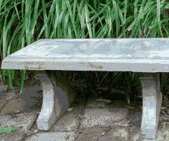 concrete garden bench. Concrete Garden Bench A