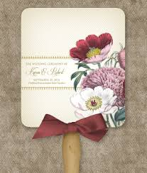 Wedding Program Fans Cheap Red Poppy Program Fan Template Download Print