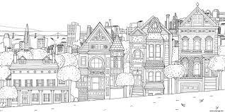 Coloriage Xxl Maison Appartements Ville Dessin Imprimer