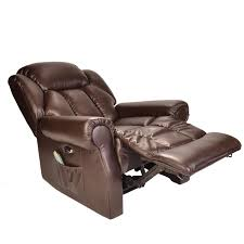 reclining leather chairs. hainworth leather reclining powered electric recliner chair with hainworth-electric-recliner-brown-1.jpg . chairs