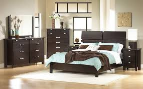 bedroom white blue bed sheet with brown blanket placed on the dark brown wooden bed amazing elegant mirrored bedroom furniture