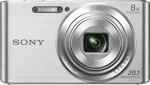 sony digital camera price. sony - dsc-w830 20.1-megapixel digital camera silver larger front price