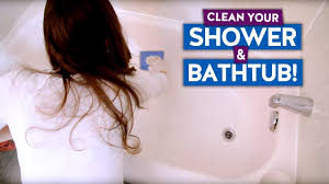 how to clean a bathtub shower easy bathroom cleaning routine