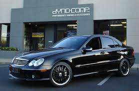 2005 Mercedes-Benz C55 AMG Dyno-Comp Supercharged 1/4 mile trap ...