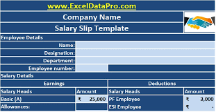 Payroll Receipt Template New Download Corporate Salary Slip Excel Template ExcelDataPro