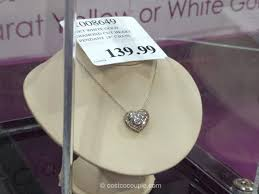 hand crafted diamond cut heart necklace costco 4