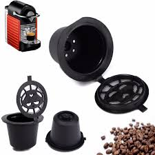 Nespresso Pod Machine Home Kitchen Refillable Coffee Capsule Cup Reusable Refilling
