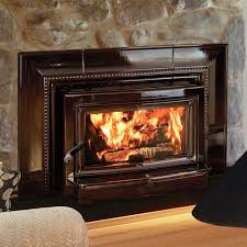 charming wood burning fireplace combined high gloss mantel and hardrock wall