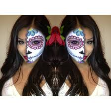 dia de los muertos day of the dead mexican sugar skull makeup face paint half face anic facepainttutorial