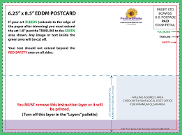 Postcard How To Address Postcard Design And Mailing Free Templates 4 X 6 5 X 7 6 X 11 Standard
