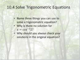 1 10 4 solve trigonometric equations