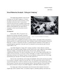 "nathaniel wright visual document analysis nathaniel wright writ 3671 visual rhetorical analysis ""liking isn t helping"" the"