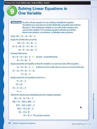 niedlich linear equations with one variable worksheets fotos