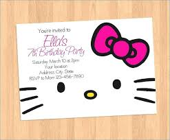Hello Kitty Invitation Printable Hello Kitty Birthday Party Invitations Hello Kitty Birthday Card