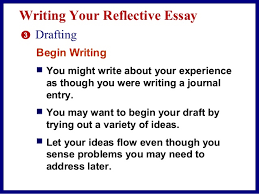 example of in a reflective essay you should in this lesson we will learn how to write an effective reflection essay and discover why they are so important to the