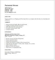 ... Shipping And Receiving Resume 11 Shipping Example ...