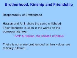 themes and issues in the kite runner khaled hosseini ppt  5 brotherhood
