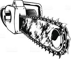 chainsaw vector. vector chainsaw royalty-free stock art