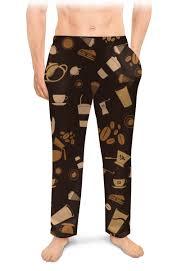 """Мужские пижамные штаны """"Кофе."""" #2623443 от nadegda - <b>Printio</b>"""