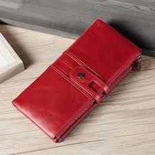 <b>Genuine</b> Cowhide Leather <b>Wallets</b> for <b>Women</b>, RFID Blocking ...