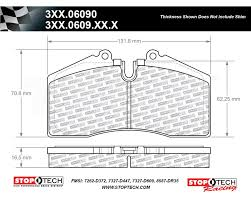 Stoptech 308 06090 Street Compound Brake Pads For Stoptech St 40 Str 40 Calipers