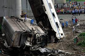 deadly high speed train crash in photo essays time chinese train wreck