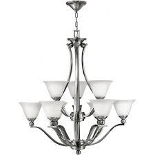 bolla large 9 light nickel chandelier in classic modern design
