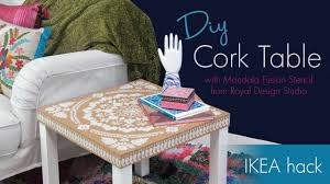 diy ikea how to stencil furniture with cork sheets and annie sloan chalk paint you