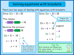linear equations with brackets norledgemaths