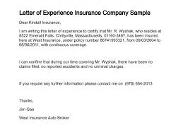 Insurance Letter Of Experience - April.onthemarch.co