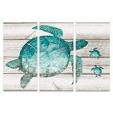 large sea turtle wall art
