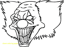 Drawing Pages Creepy Clown Coloring Pages Coloring Pages Scary Clowns I5596 Scary