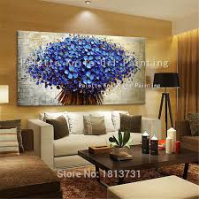 2019 canvas painting palette knife 3d texture flowers wall pictures for living room cuadros decoracion acrylic quadros wall art decor from qushimei88