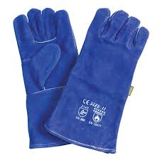 picture of leather elbow length weld lined gloves