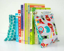 Superhero Nursery & Kid's Bookends, Child Safe Fabric Bookends,  Reversible-Colorful Nursery and