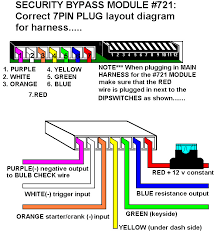 installation diagrams 721 bypass harness layout