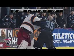 Hockey fight leads to suspension for 2 players and coach from QC Storm |  wqad.com