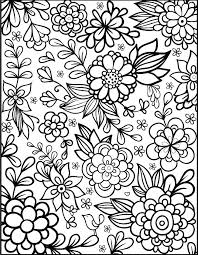 Simple Flower Coloring Pages For Adults