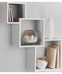 interlocking floating shelves high gloss geometric cube shelves white at argos co uk on floating