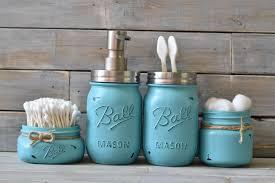 turquoise mason jar bathroom set everything paint centerpieces tinted mason jars aqua weddings aqua